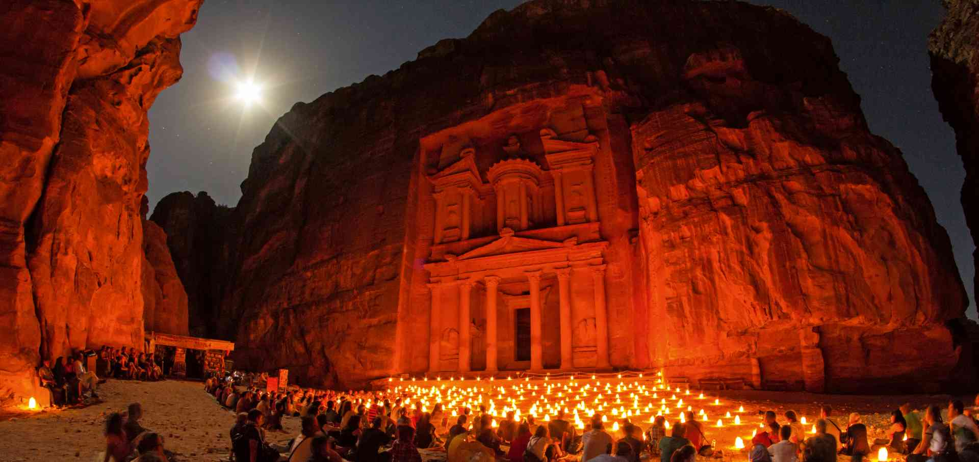 Petra by night, Jordan by Sylvain L.
