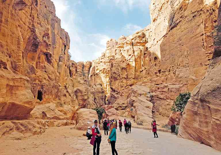 The Siq, Petra, Jordan by Victoria Hearn
