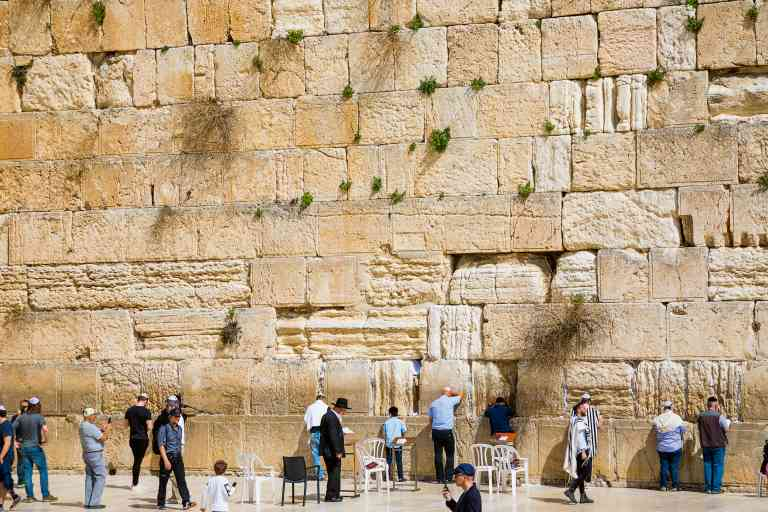 The Western Wall, Israel by Graham Meale