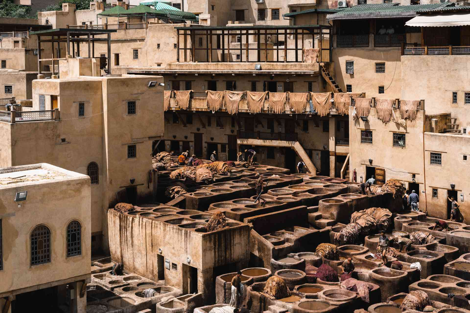 Tanneries in Fez, Morocco