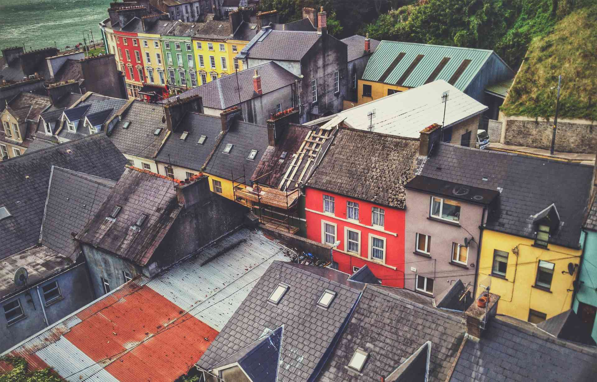 The colourful village of Cobh, Ireland
