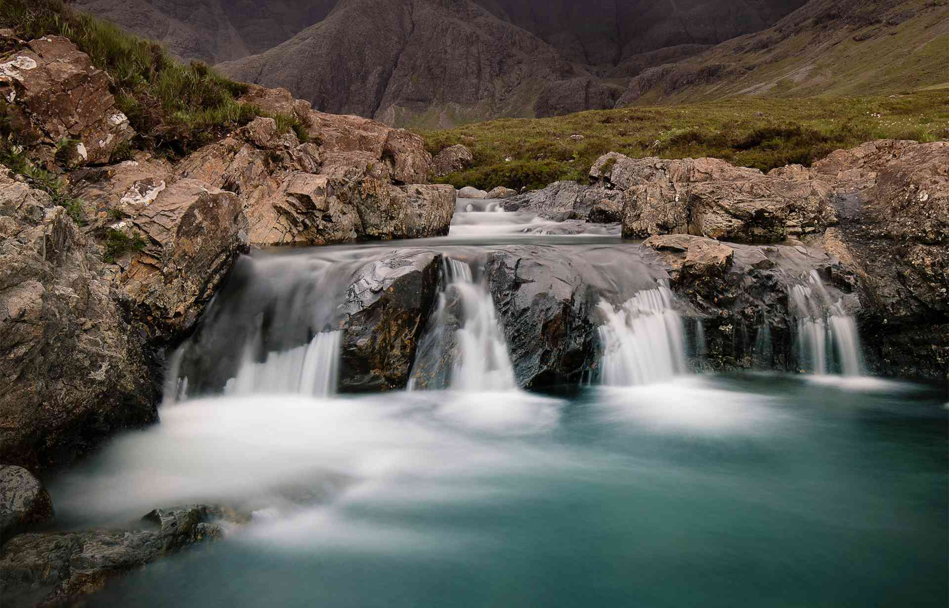 The fairy pools of Glenbrittle, Scotland