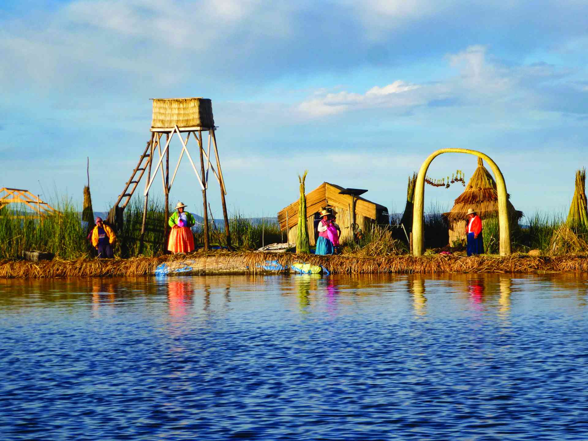 Uros Islands, Lake Titicaca, Peru by Marion Bunnik