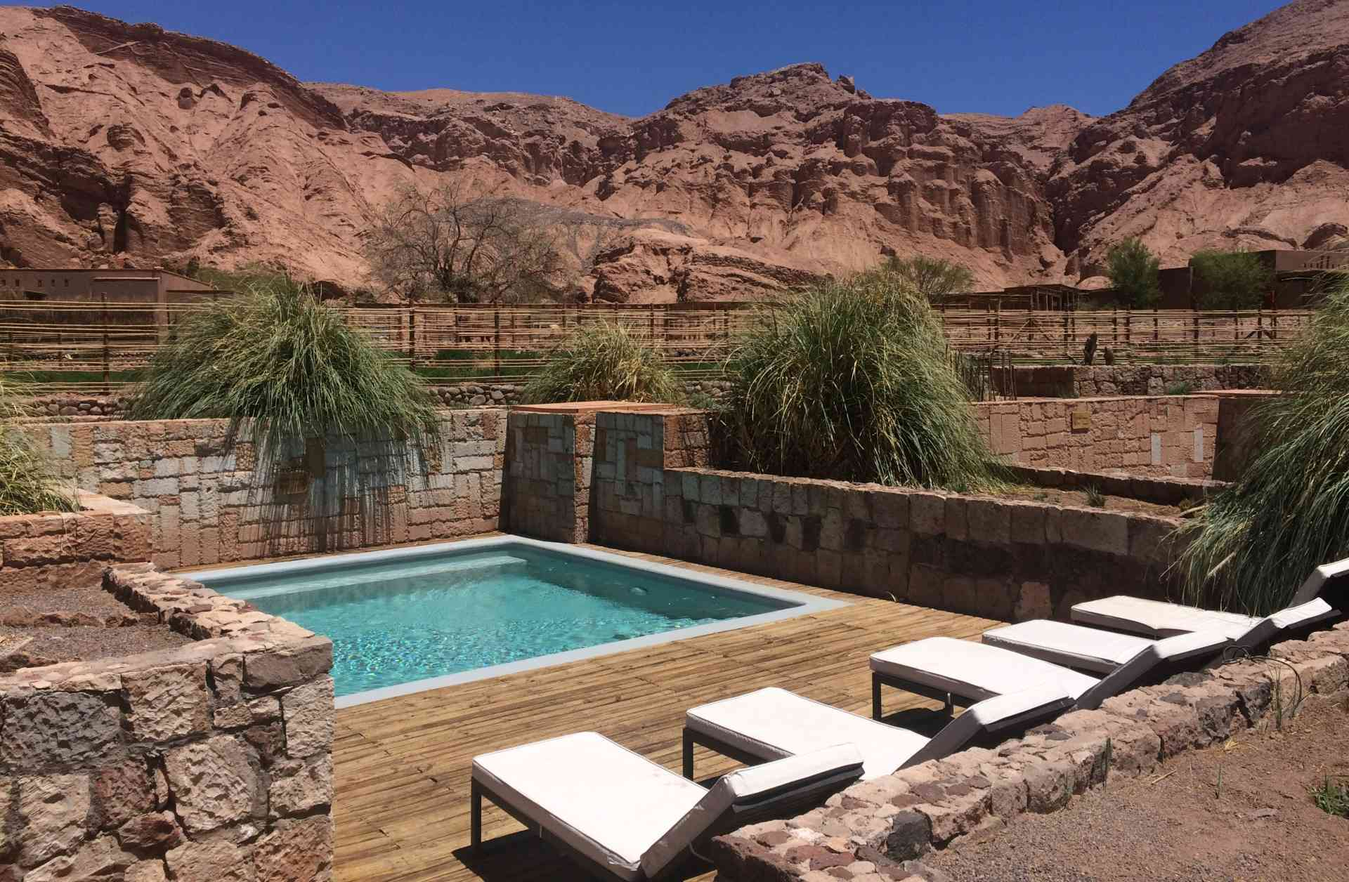A pool with a view at Alto Atacama Desert Lodge & Spa, Chile by James Atwell