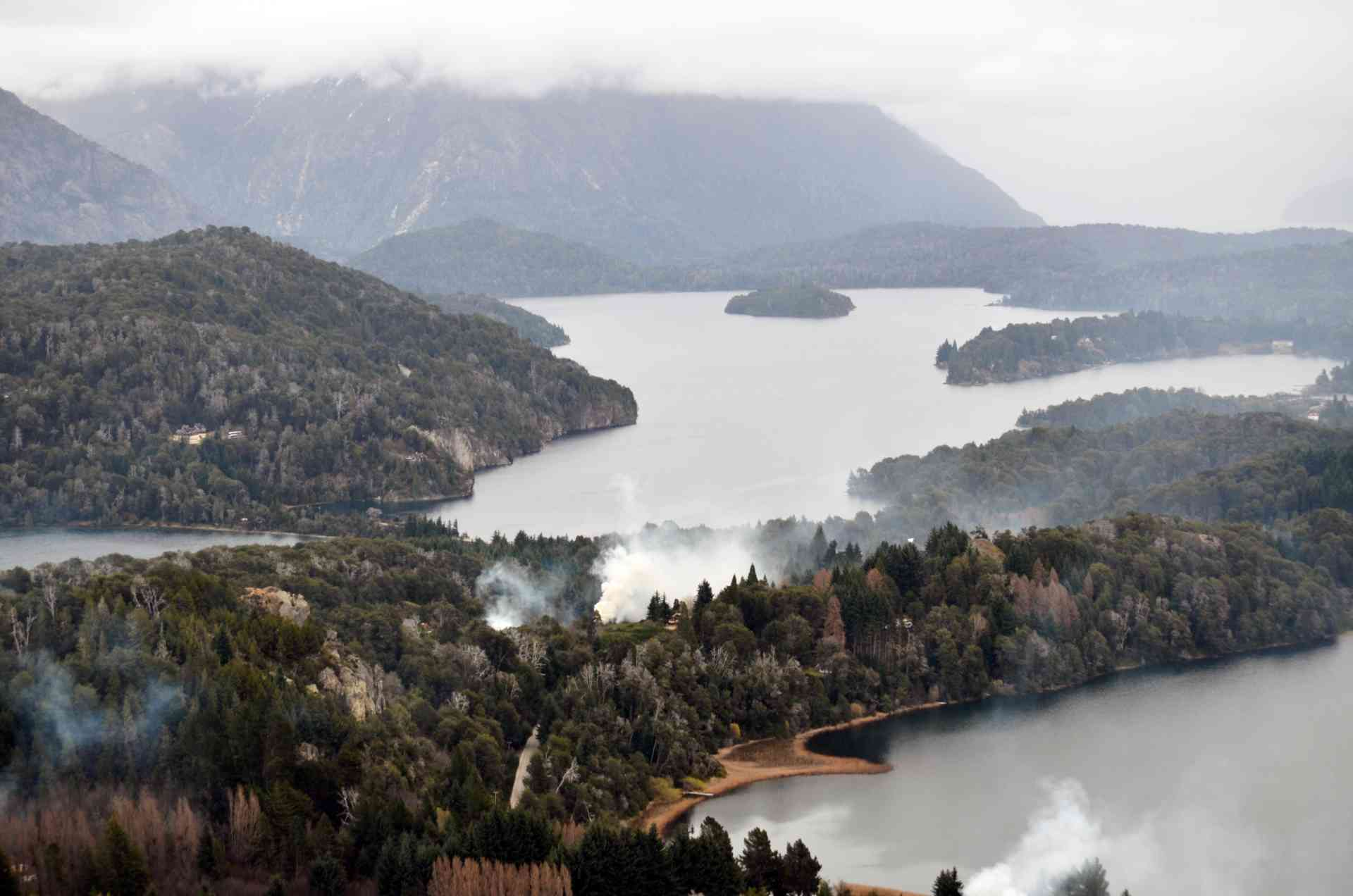 View of the Lakes, Argentina by Annelieke Huijgens
