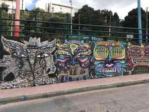 Street art in Bogota, Colombia by Zoe Francis