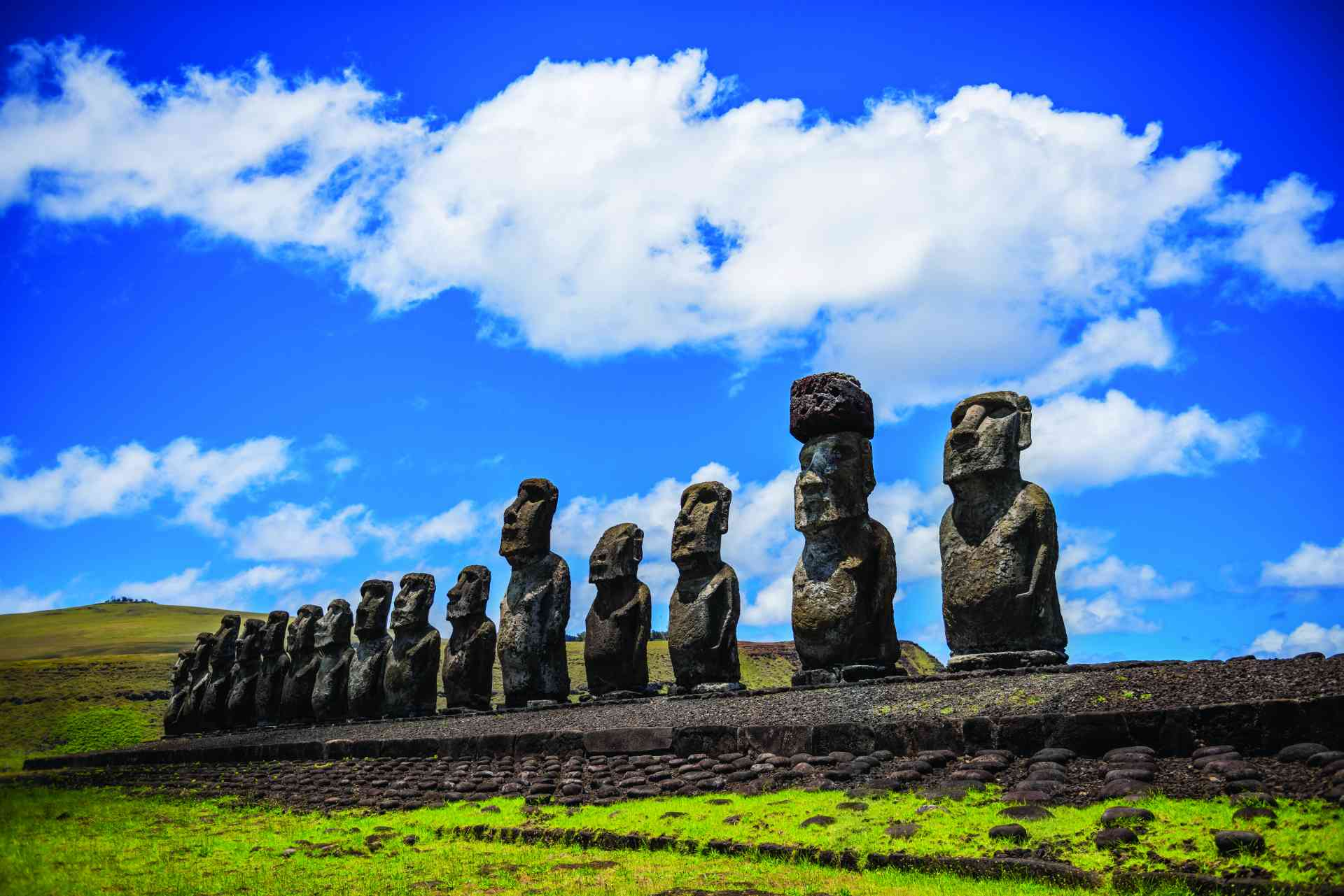 Ahu Tongariki, Easter Island, Chile by voltamax from Pixabay