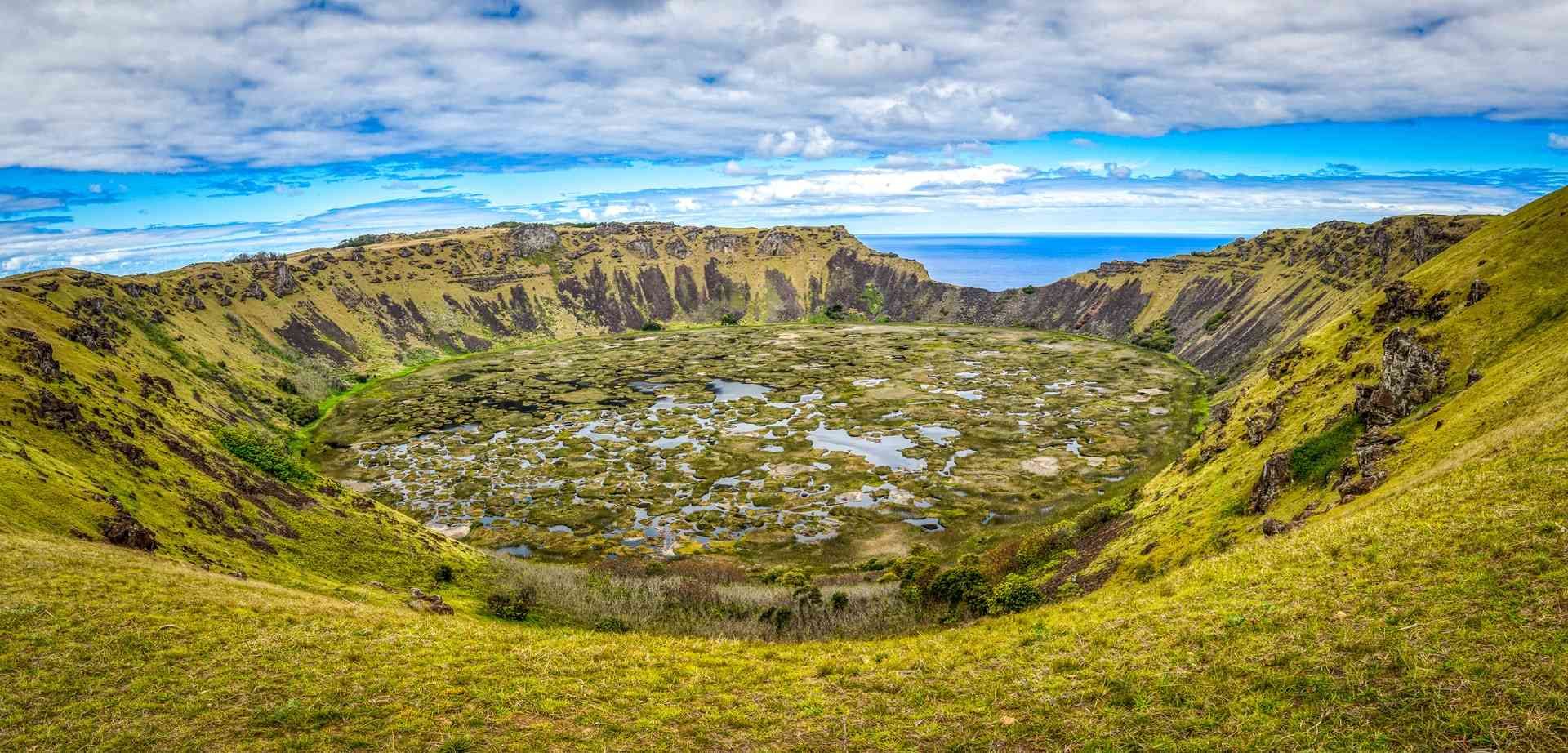 Rano Kau, Volcanco on Easter Island, Chile by Franz Nawrath/Unsplash