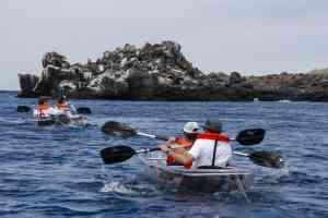Kayaking around the Galapagos islands, Ecuador