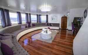 Camila luxury yacht lounge, Galapagos, Ecuador