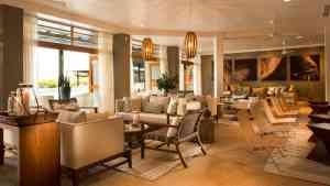 Finch Bay Eco Resort lounge, Galapagos, Ecuador