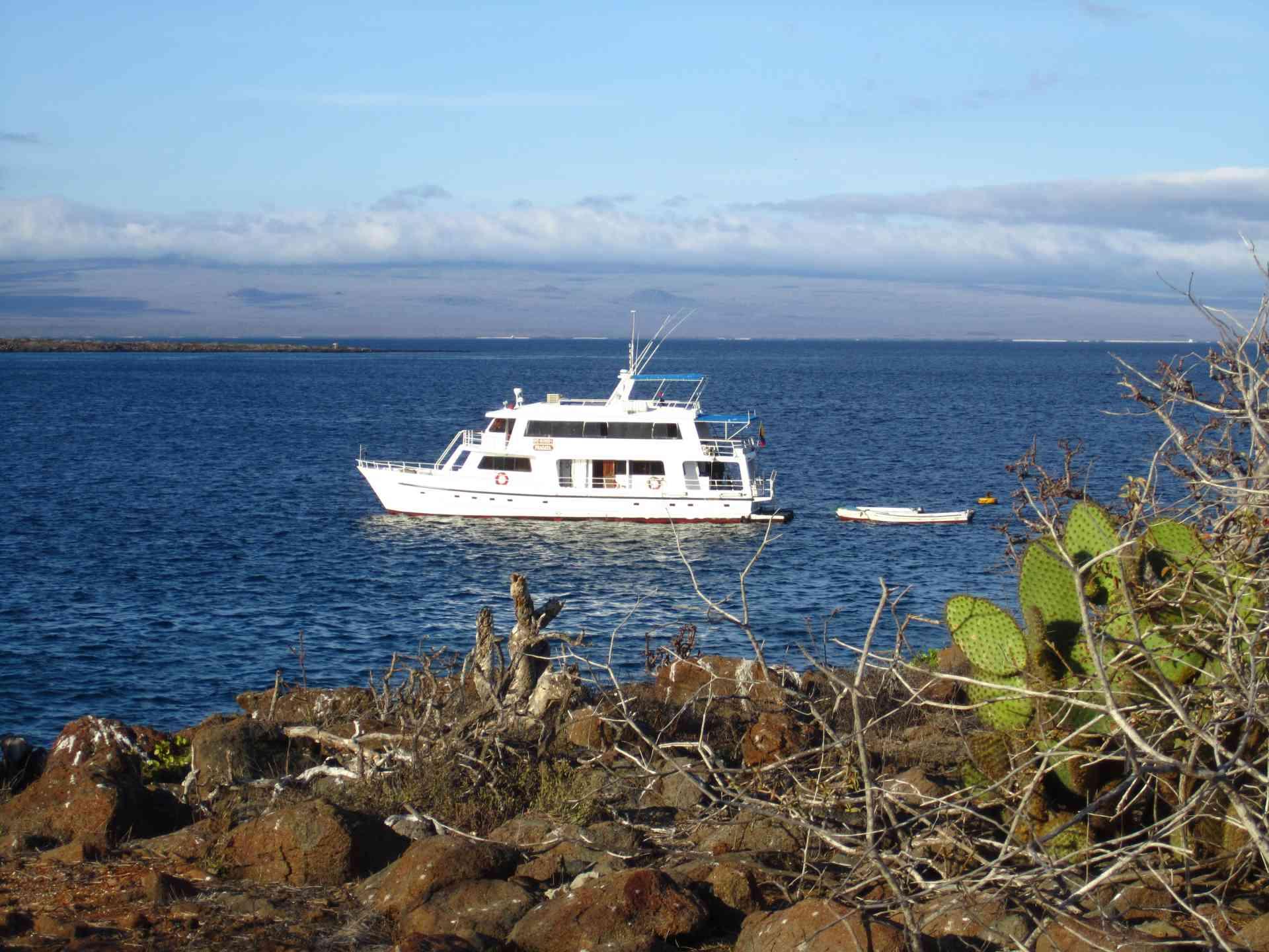 Fragata yacht sailing the Galapagos, Ecuador
