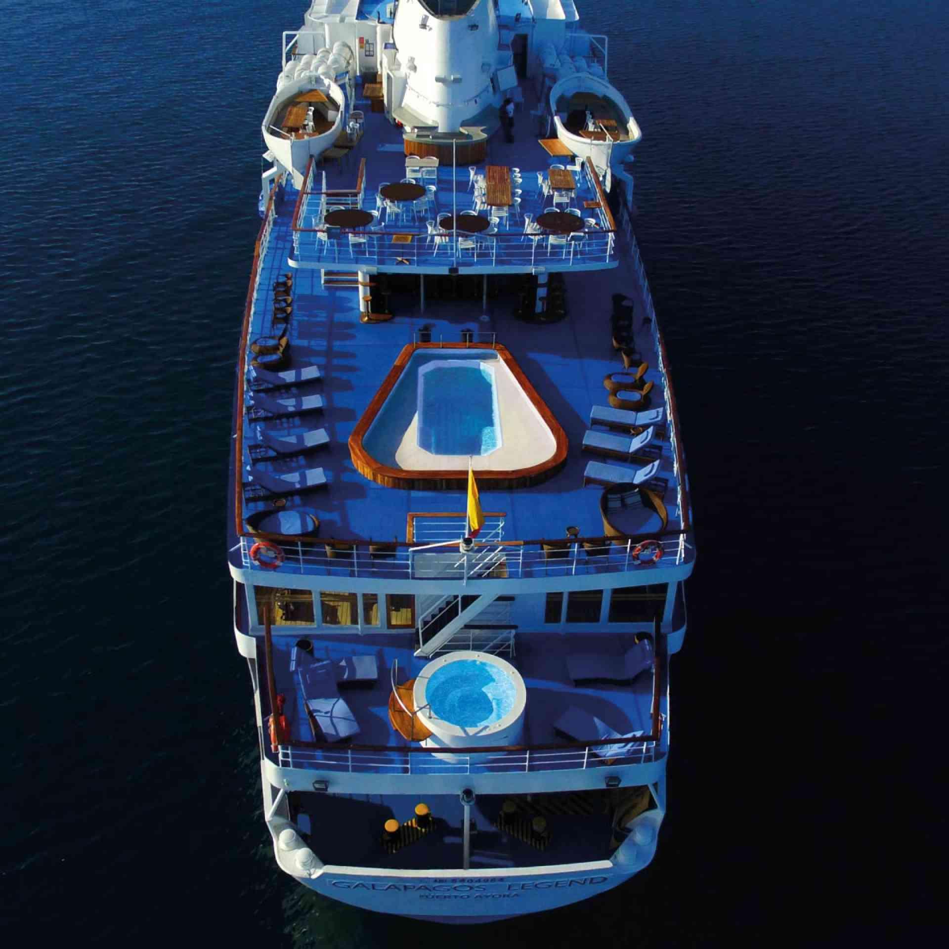 Galapagos Legend cruise sun decks, Ecuador
