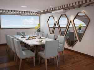 Dining on board, Galapagos, Ecuador