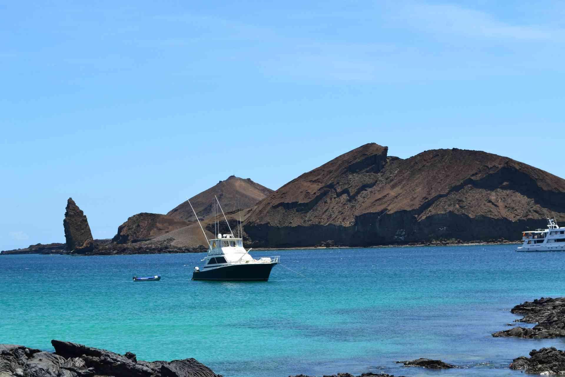 Pinnacle Rock on Bartolome Island, Galapagos Islands, Ecuador by Natalia Borojovich