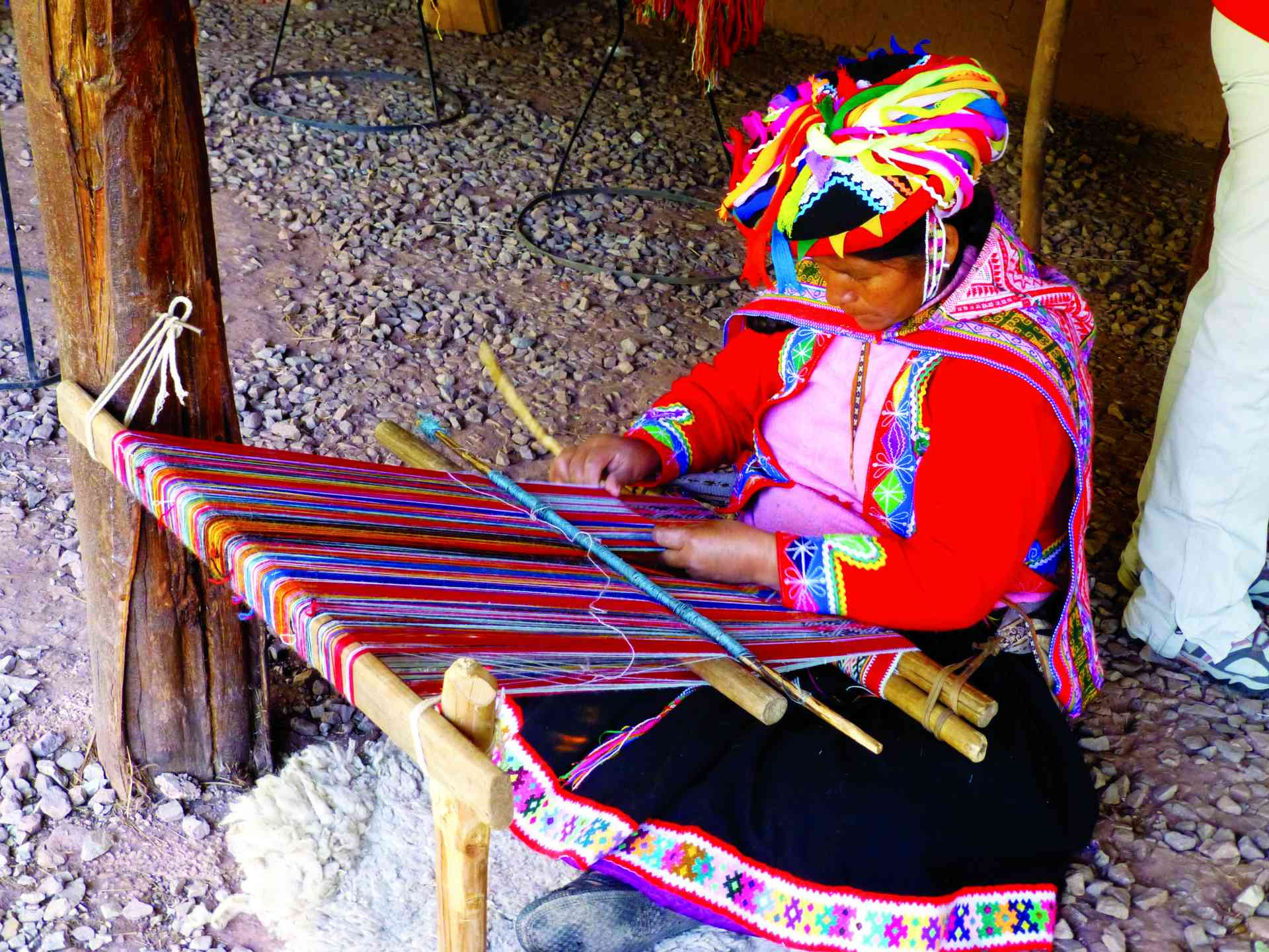 Weaver in Peru by Zoe Francis