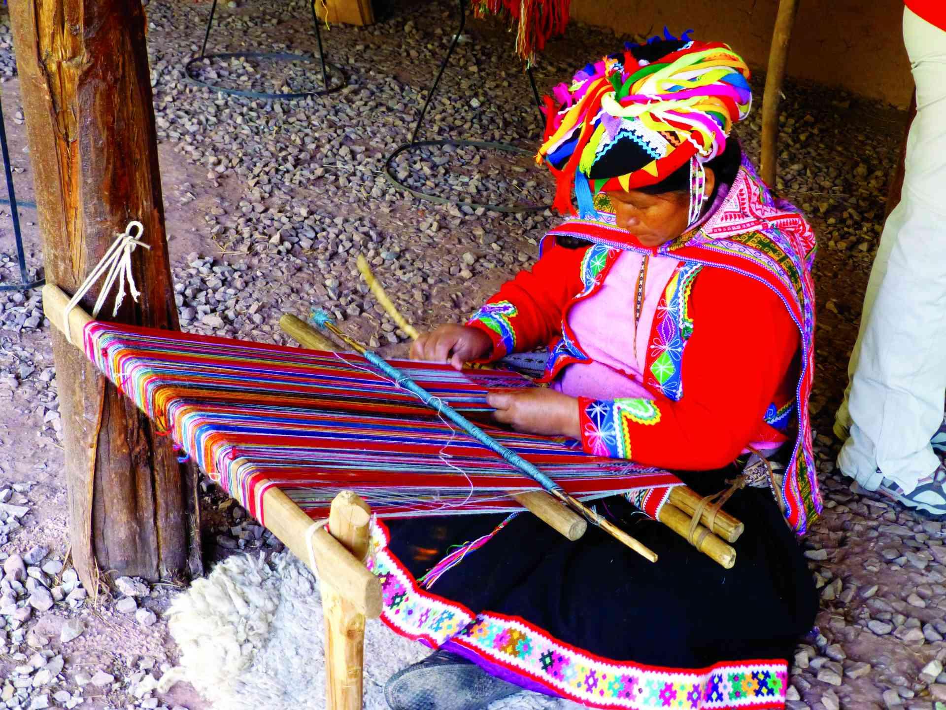Weaver in Peru by Zoe Francis