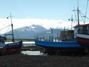 Mountain views from Puerto Natales, Chile by Gary Hayes