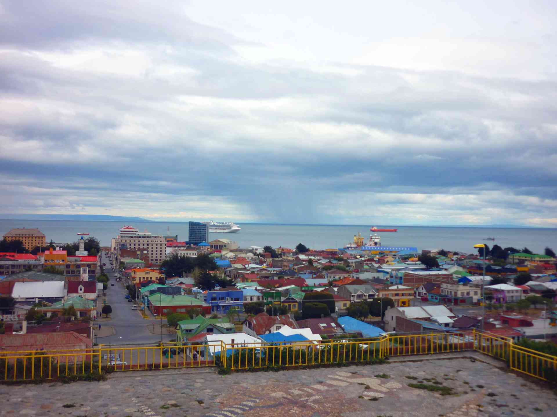 Views over Punta Arenas, Chile by Gary Hayes