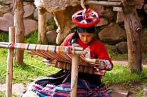 Local weaver in Peru by Priscilla Aster
