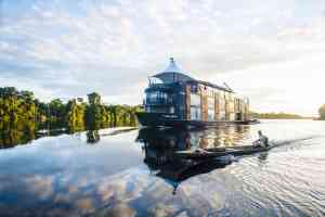 Aria Amazon cruise ship, Peru by Aqua Expeditions