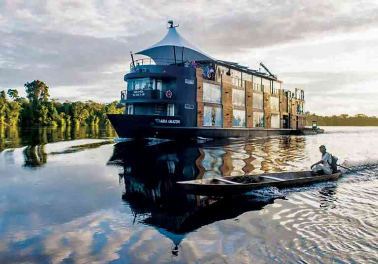 Aria Amazon Cruise Ship, Peru