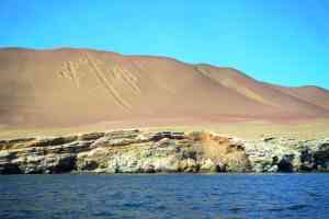 Candelabro, en route to Ballestas Islands, Peru