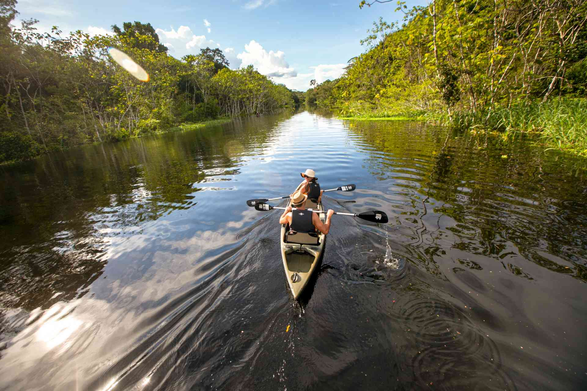 Amazon kayaking, Peru by Delfin Amazon cruises