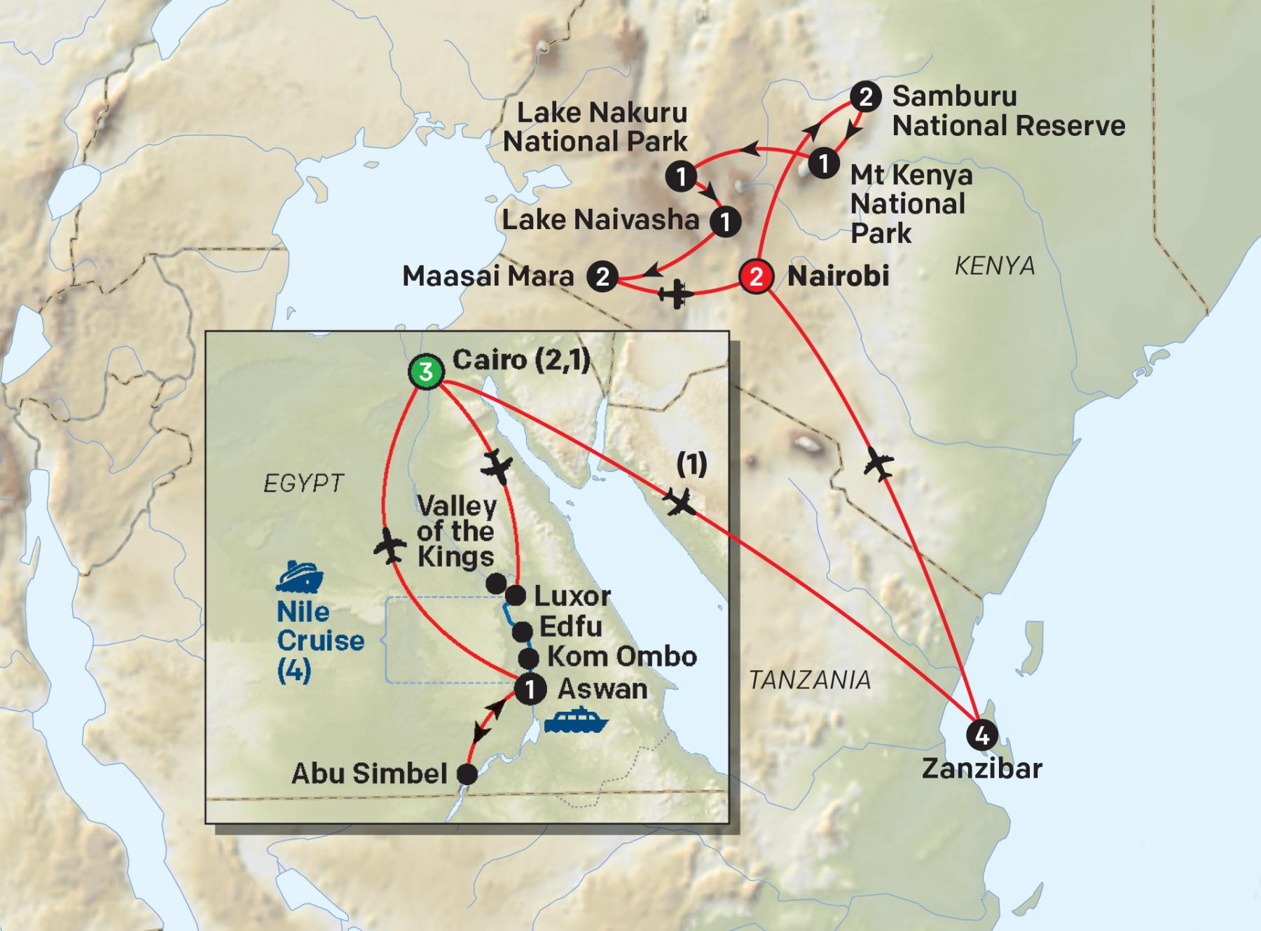 Cairo to Zanzibar