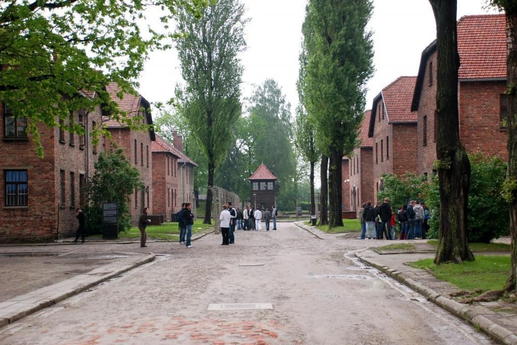 Barracks inside Auschwitz I