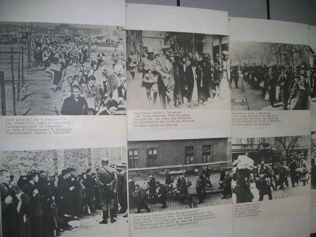 Photos of prisoner transportation, Auschwitz I