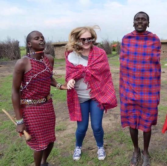 Maasai lady jumping