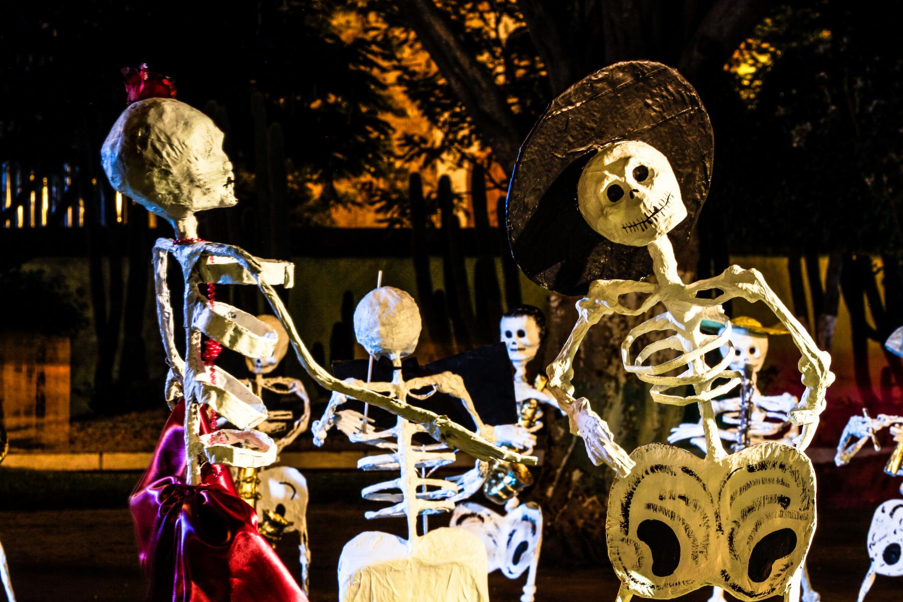 Skeletons at Day of the Dead
