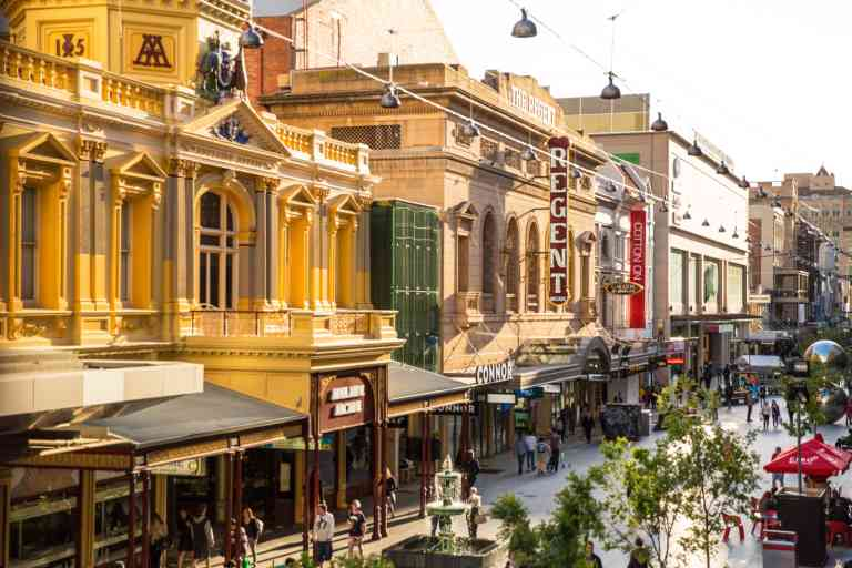 Rundle Mall, Adelaide by Josie Withers (South Australian Tourism Commission)