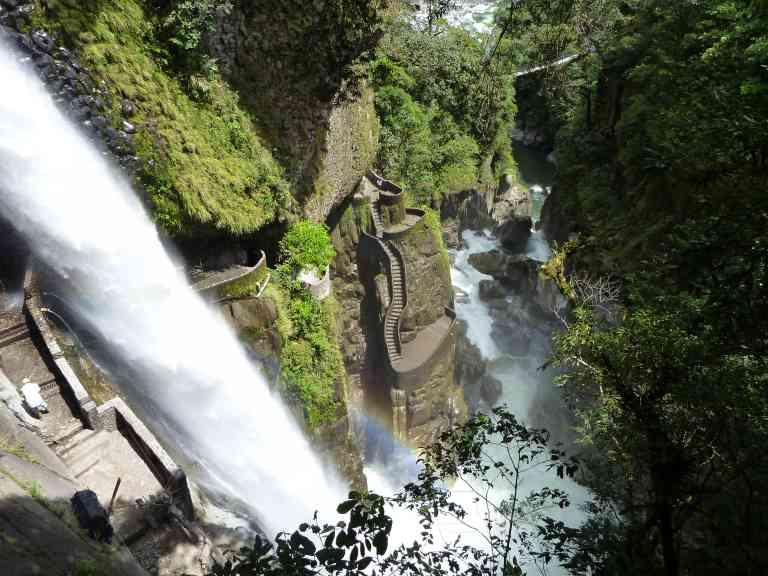 The Devil's Cauldron waterfall of Baños, Ecuador by Kristi Rutten