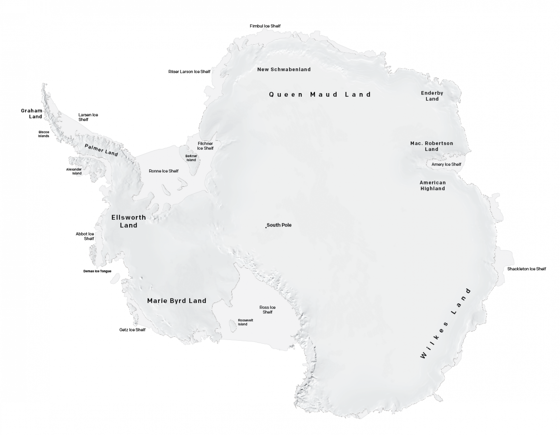 Map of Arctic & Antarctic