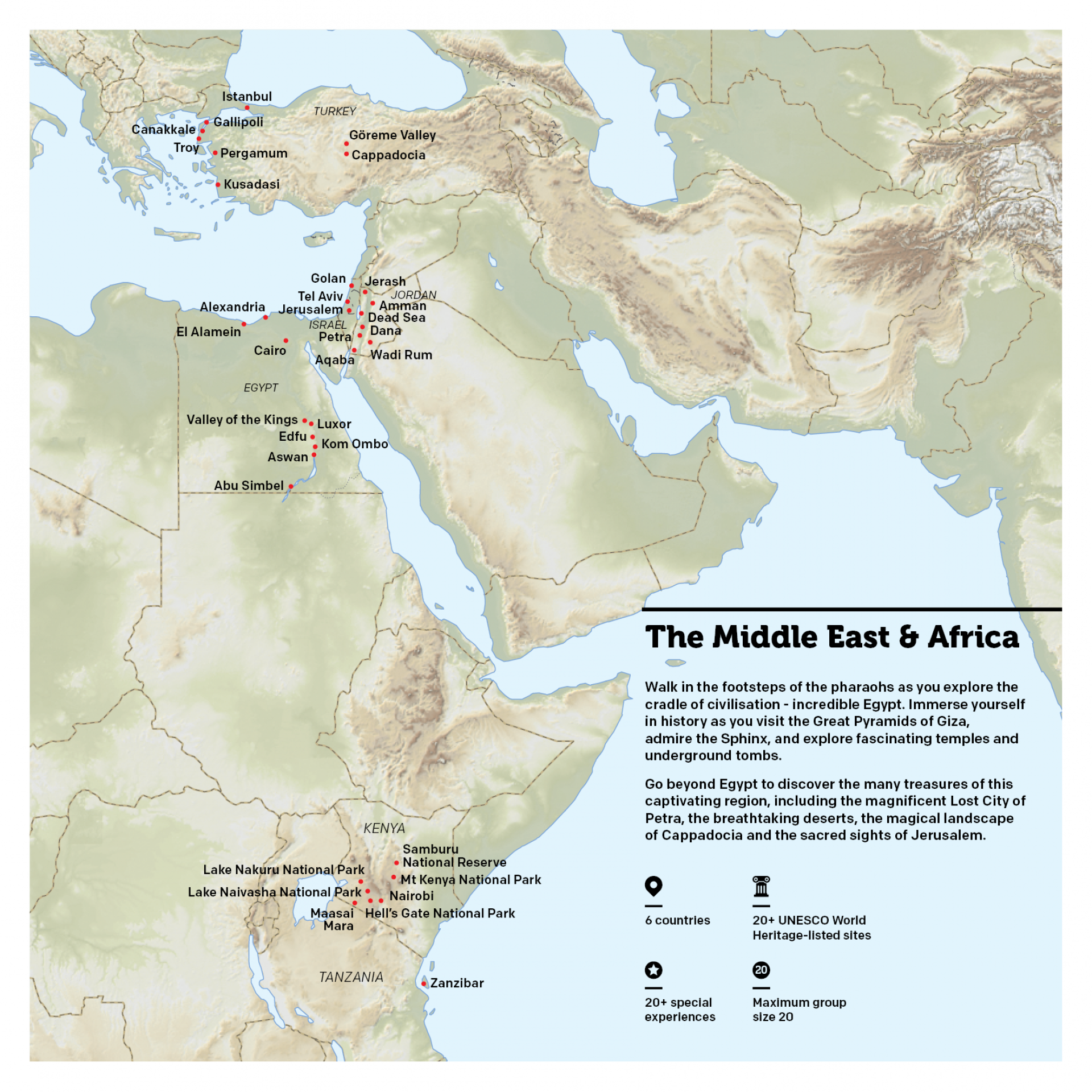 Map of Egypt & Middle East
