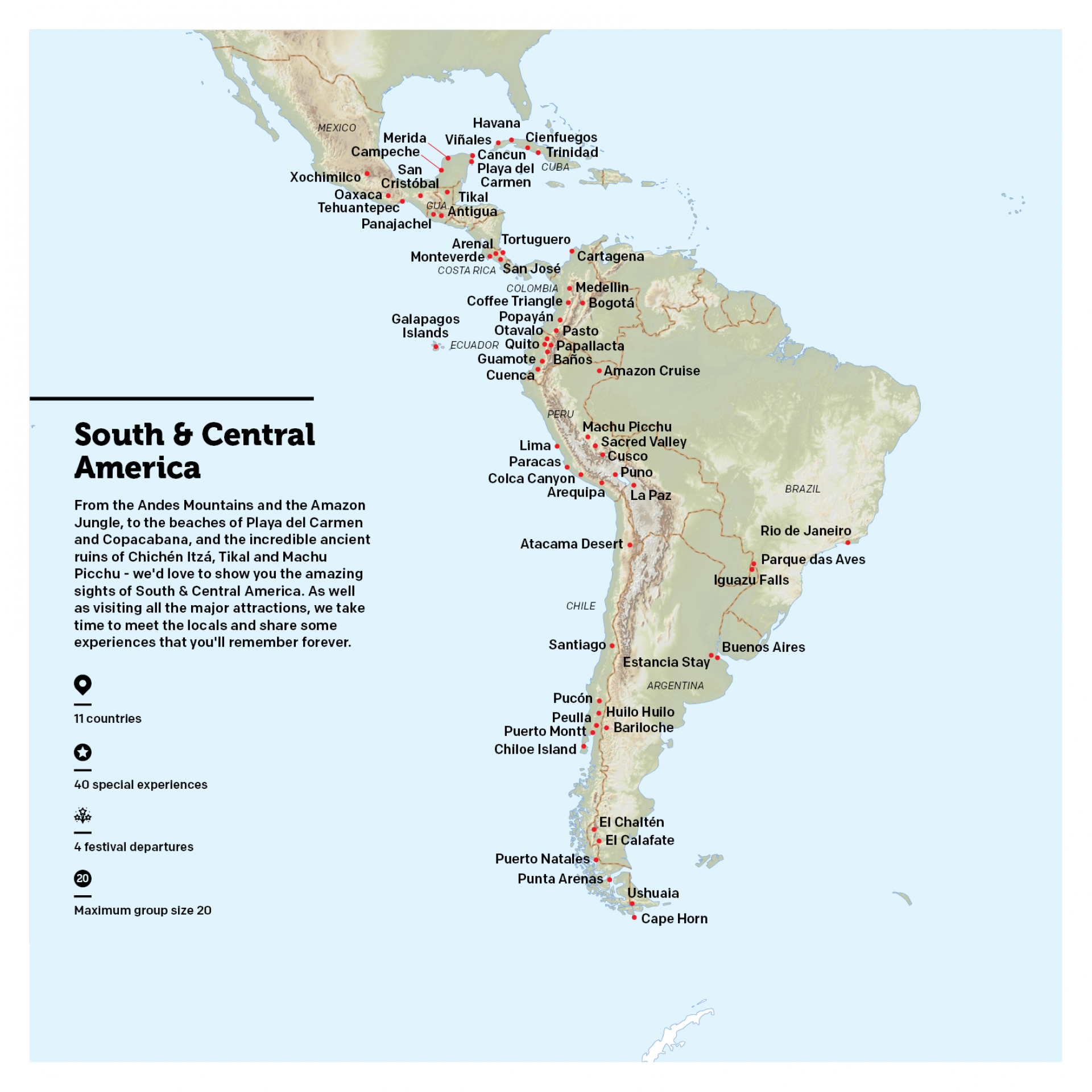 Map of South & Central America